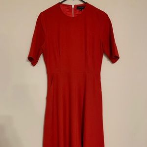 Women's Red Midi Dress